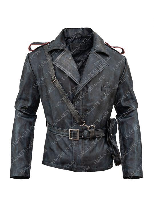 Battlefield 5 video Game Peter Muller brown leather Jacket