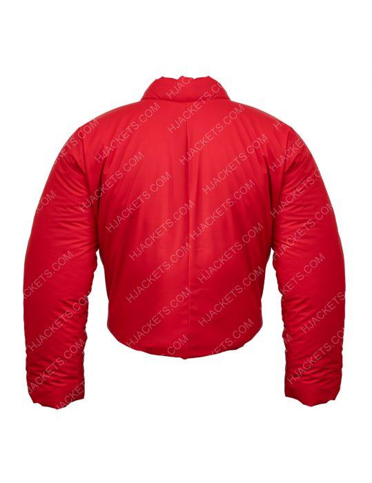 Kanye West Yeezy Round Puffer Red Jacket