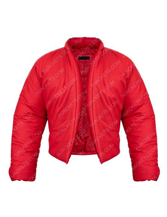 Kanye West Yeezy Round Red Jacket