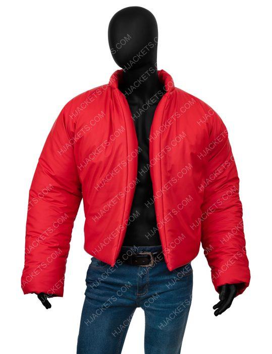 Kanye West Yeezy Round Red Puffer Jacket
