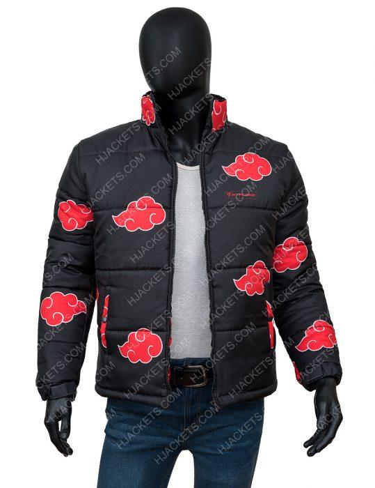 Naruto Akatsuki Black Puffer Jacket