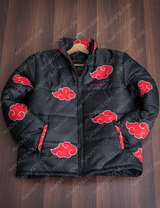Naruto Akatsuki Puffer Mens Jacket