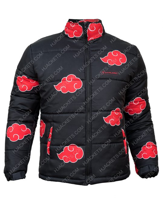 Naruto Black Puffer Jacket