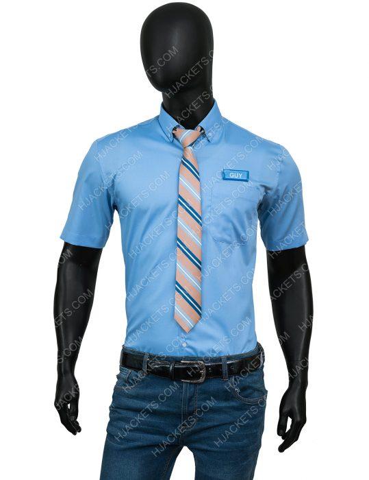 Ryan Reynolds Free Guy Shirt and Tie