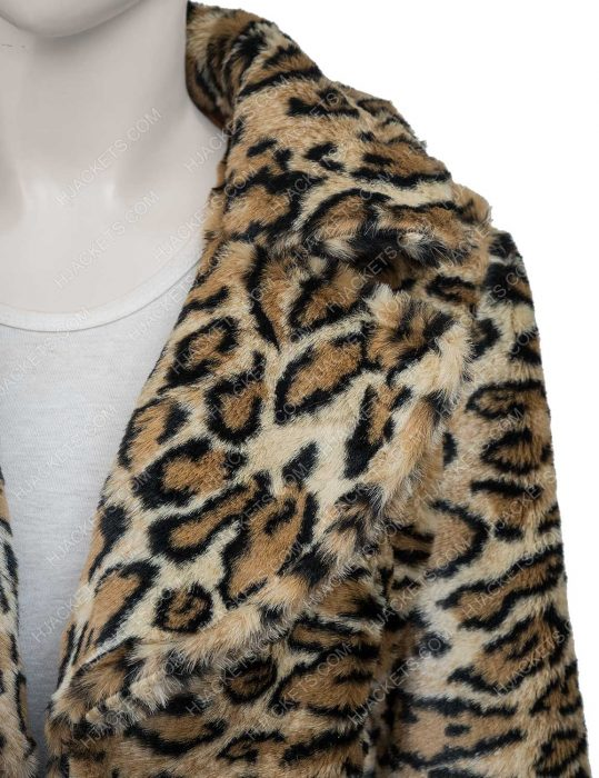 Afterlife of the Party 2021 Cassie Leopard Print Coat