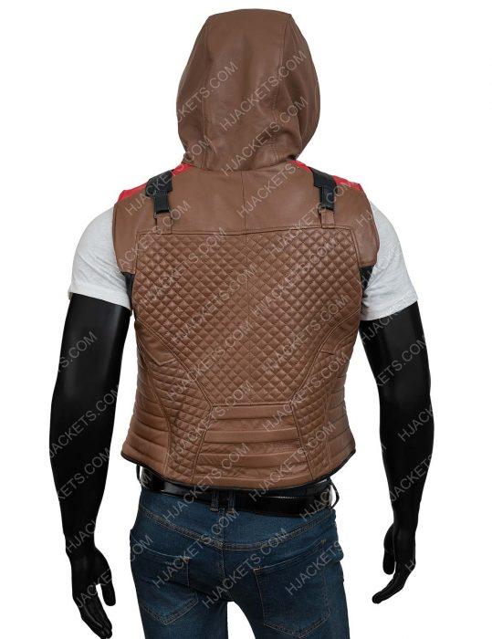 Gotham Knights Red HoodedLeather Vest