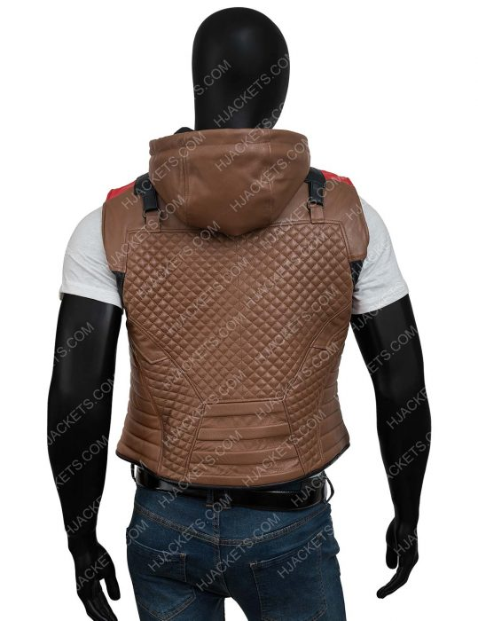 Jason Todd Gotham Knights Hooded Brown Leather Vest
