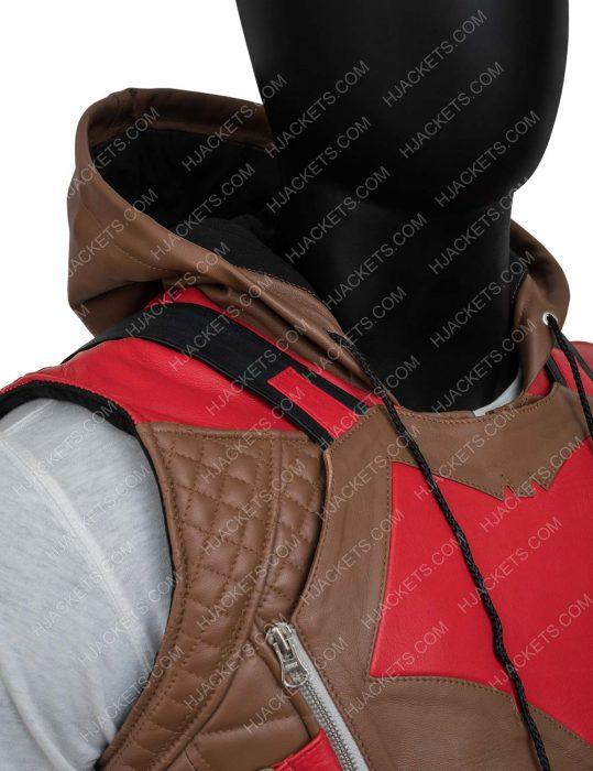 Jason Todd Gotham Knights Red Hooded Brown Vest