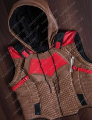Knights Red Hooded Vest