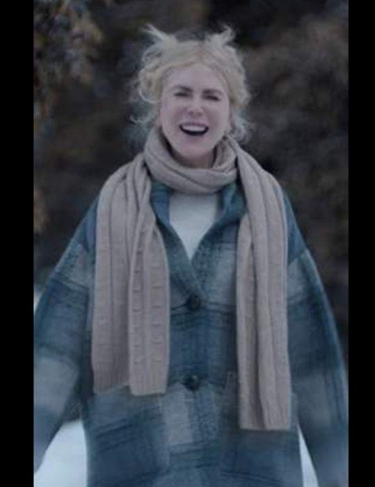 Nine Perfect Strangers Nicole Kidman Check Coat