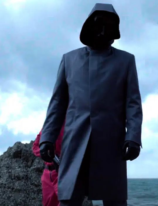 Squid Game Frontman Leather trench Coat