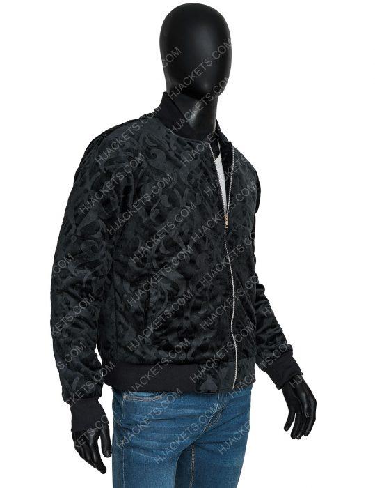 Uncut Gems Adam Sandler Black Bomber Jacket