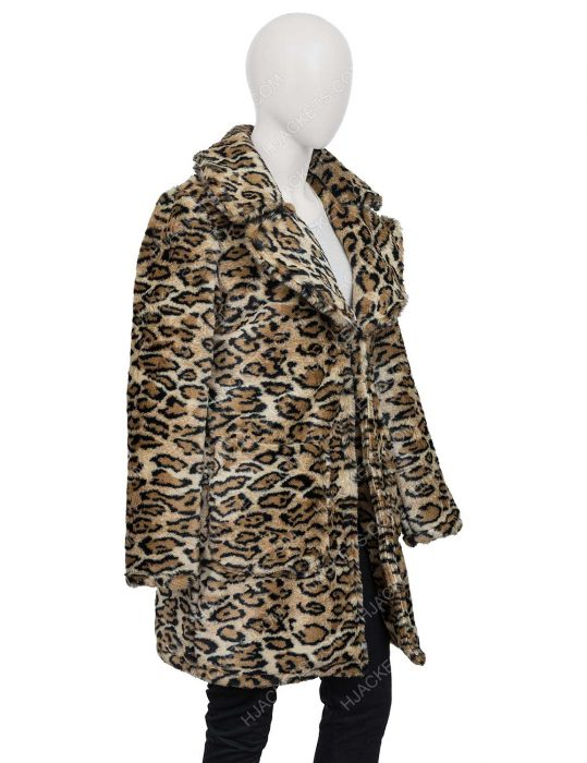 Victoria Justice Afterlife of the Party Cassie Leopard Print Coat