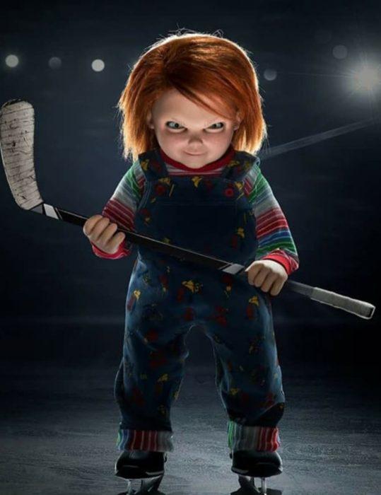 Chucky's Doll Blue Corduroy Jumpsuit