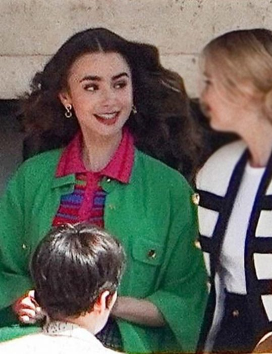 Emily Cooper Emily In Paris S02 Lily Collins Green Coat