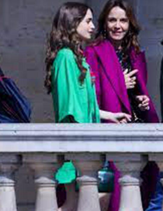 Emily Cooper TV-Series Emily In Paris S02 Lily Collins Coat