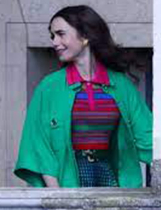Emily Cooper TV-Series Emily In Paris S02 Lily Collins Green Coat