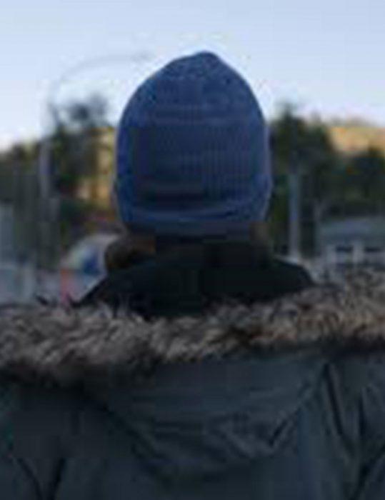 Maid 2021 Margaret Qualley Fur Hooded Jacket