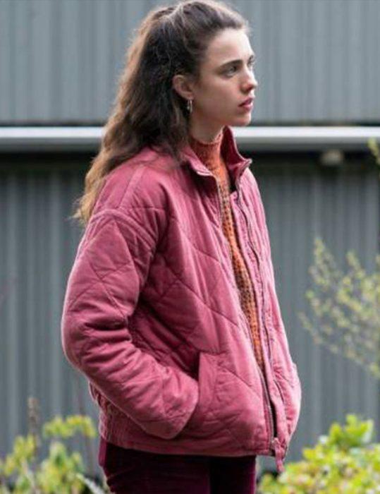 Maid Margaret Qualley Pink Jacket